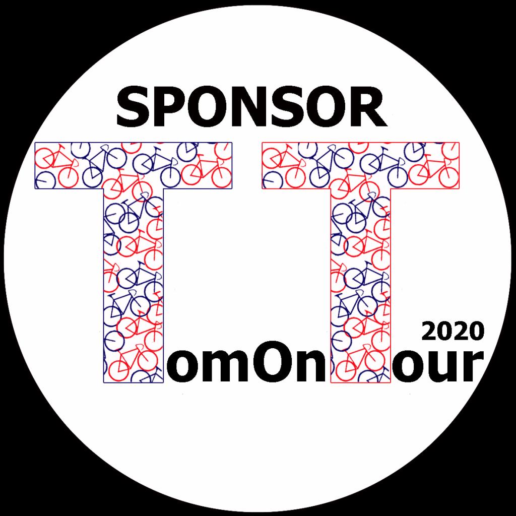 We gaan door met Tom on Tour 2020, hier staat het logo
