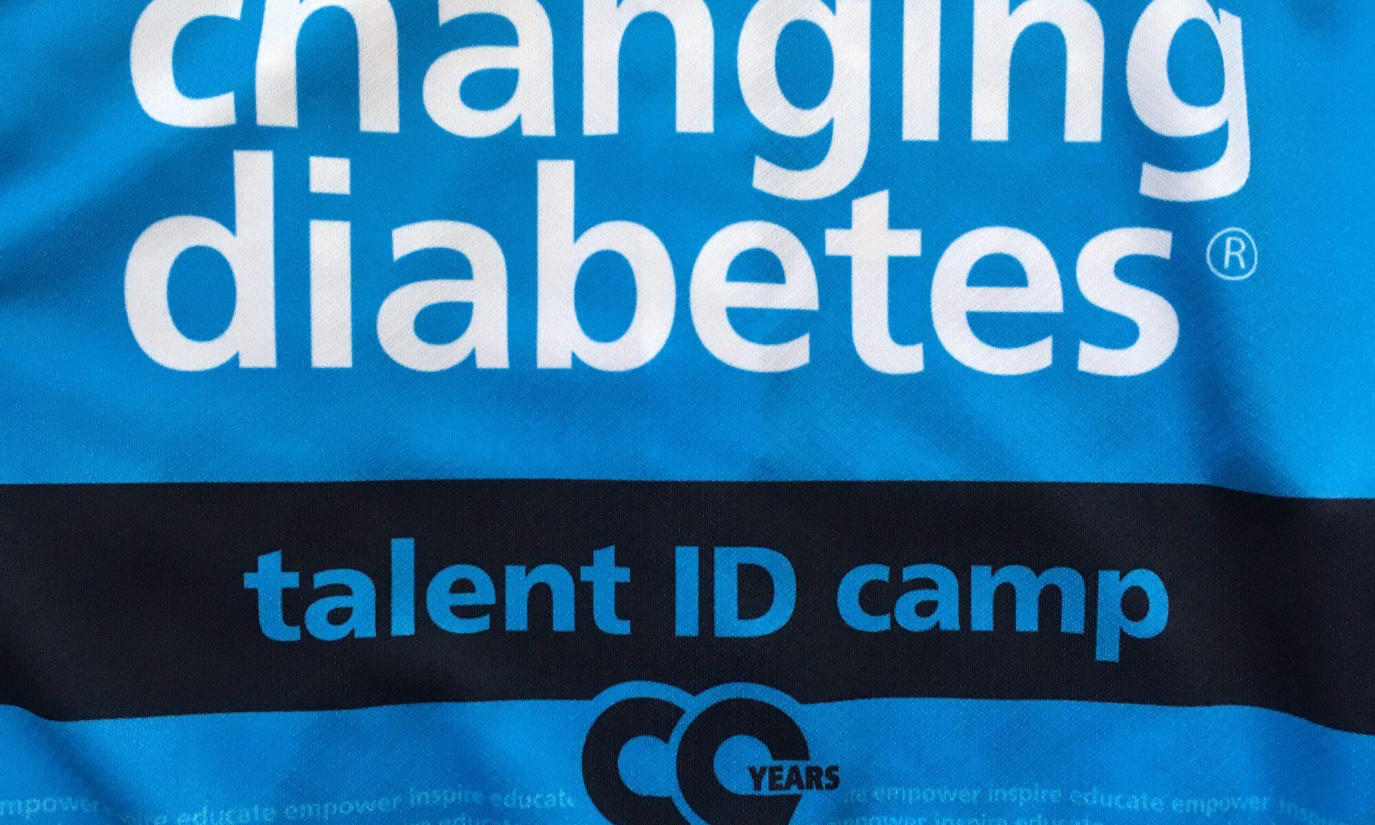 Wielrenshirt met tekst 'Changing Diabetes, Talent ID Camp'